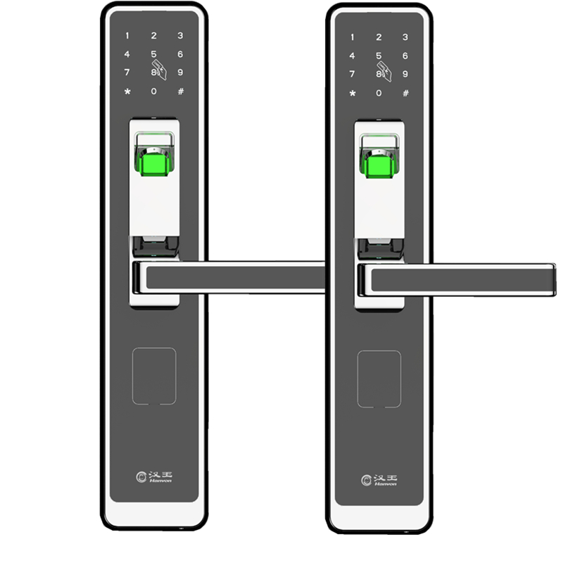 汉王GL-3020BR型指纹锁家用防盗门智能密码门锁智能锁  光铬