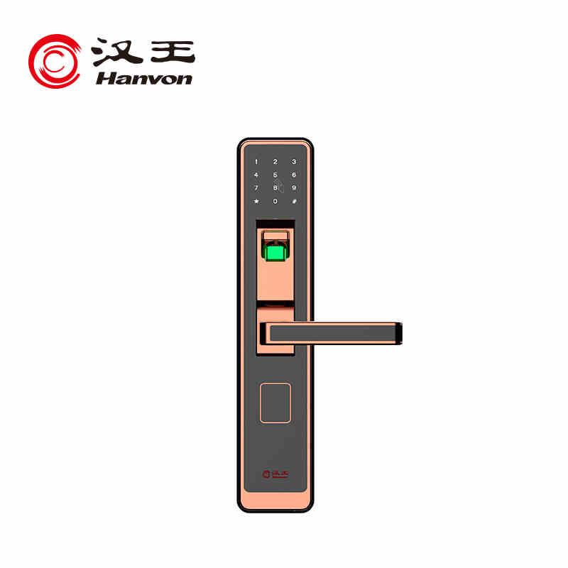汉王GL-3020BR型指纹锁家用防盗门智能密码门锁智能锁  红古铜