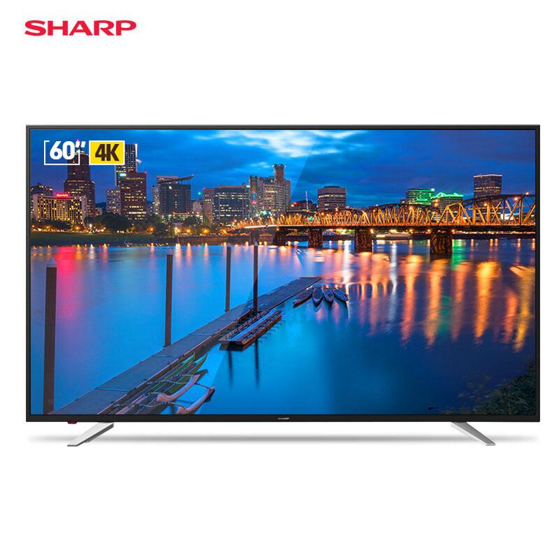 夏普 (SHARP) LCD-60SU470A 60英寸 4K超高清人工智能语音 HDR 智能网络液晶平板电视机