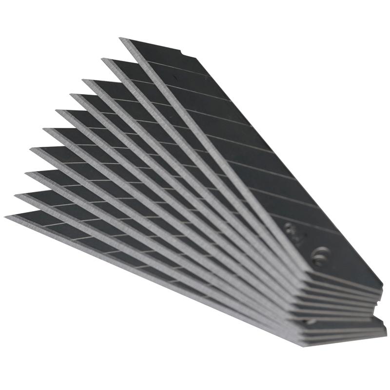 得力(deli)2015美工刀片 9mm小号壁纸墙纸刀片裁纸刀片切割刀 30度 10片/盒