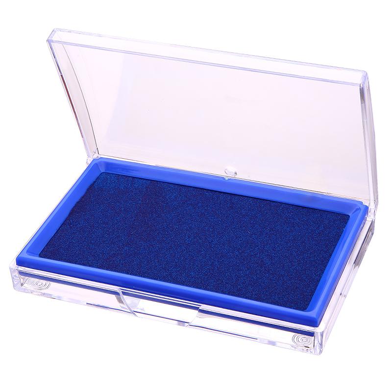 得力(deli)9864 印台印泥/办公印台/长方形印台 蓝色