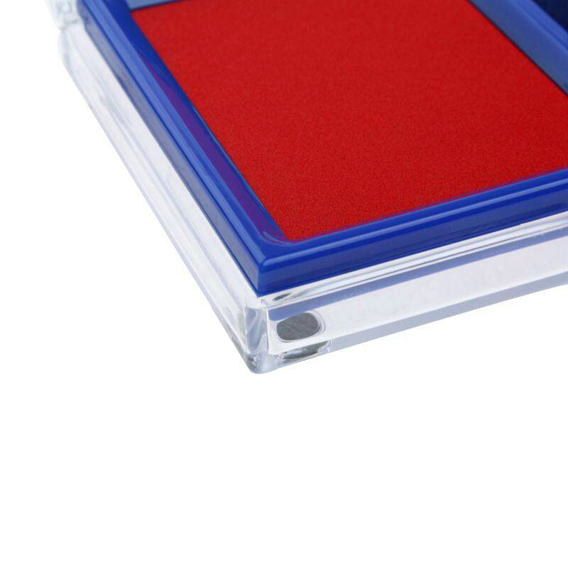 得力(deli)9865双色快干印台/印泥 红、蓝两色 财务办公用品