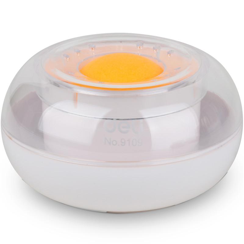 得力(deli)9109 湿手器 圆形滚珠点钞沾手水缸粘手器 颜色随机