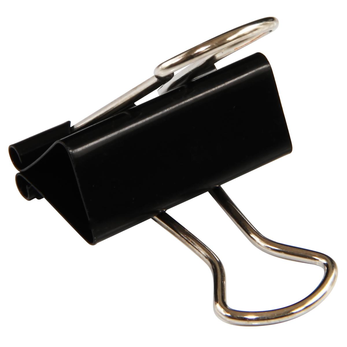 得力(deli)8563 24只32mm金属黑色长尾票夹票据夹燕尾夹 中号