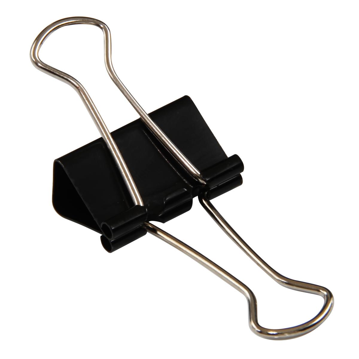 得力(deli)8561长尾夹燕尾夹票据夹铁尾夹文件夹子 51mm  12只一筒装 黑色