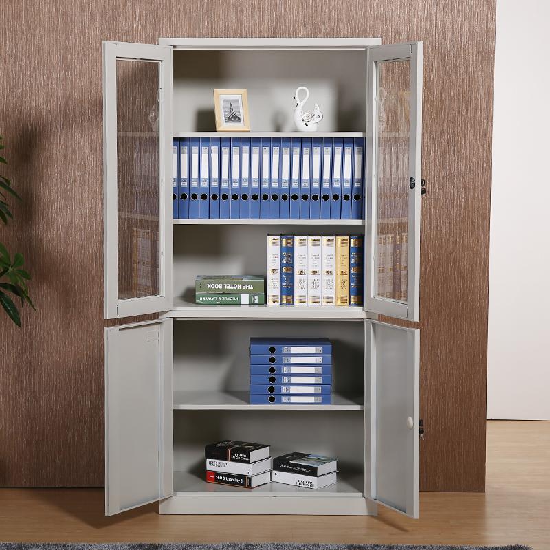 钢制文件柜铁皮柜办公柜档案柜带锁资料柜器械柜财务柜  灰白色 文件柜一个