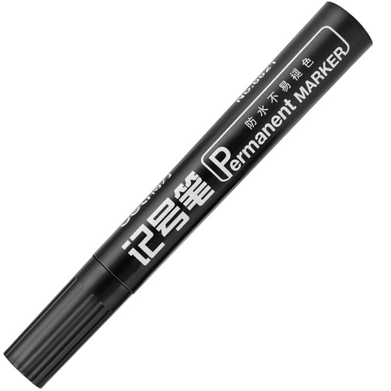 得力(deli)6821黑色粗头物流油性记号笔大头笔 10支/盒