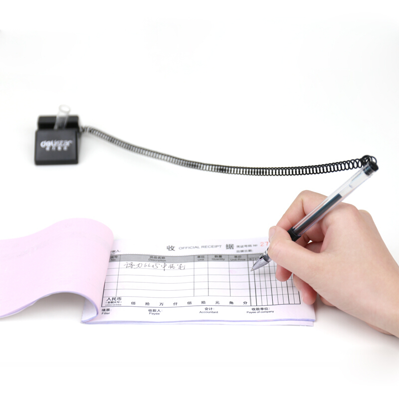 得力(deli)6791 0.5mm柜台专用台笔 台式中性笔 单支装