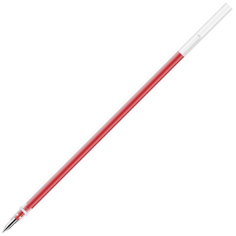 得力(deli)6916 0.5mm红色中性笔笔芯 水笔签字笔子弹头替芯 20支/盒