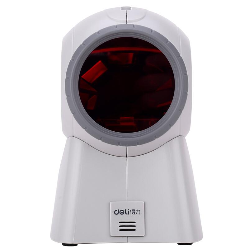 得力(deli)14884 条码扫描平台扫码枪有线超市收银扫描枪