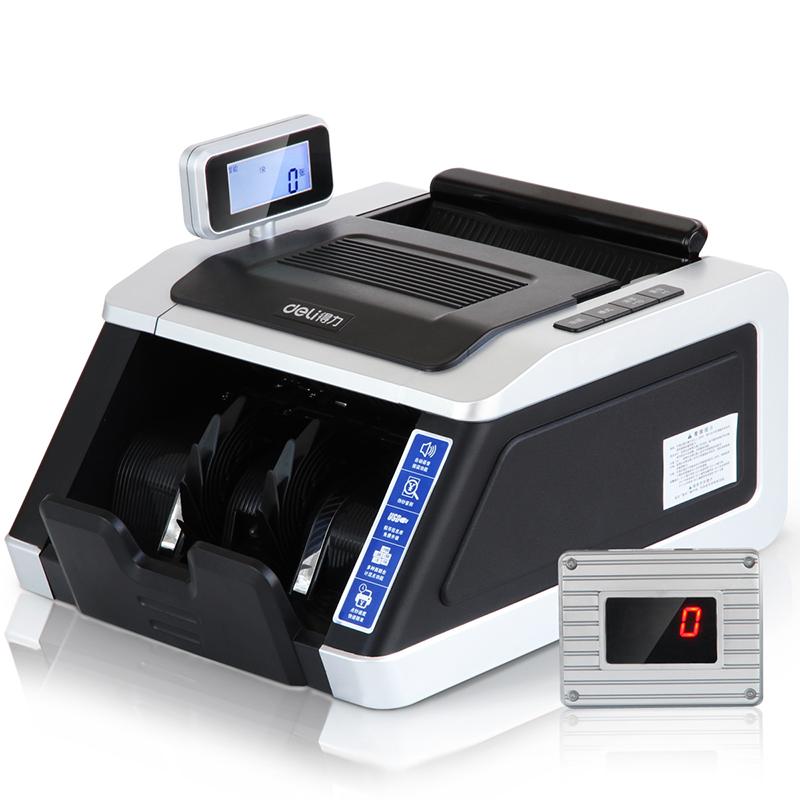 得力(deli)3914点钞机商场银行专用语音播报验钞机器小型便携式 银色