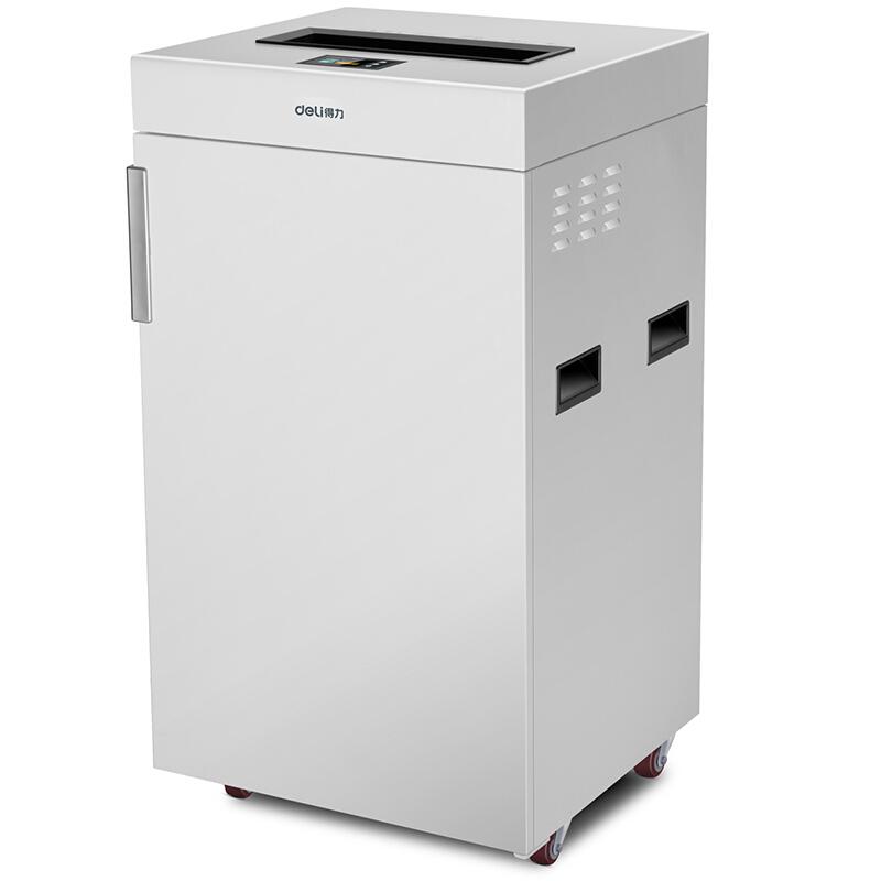 得力(deli)9909 大型碎纸机 75L大容量 60min长时间碎纸 触摸屏金属机身碎纸机
