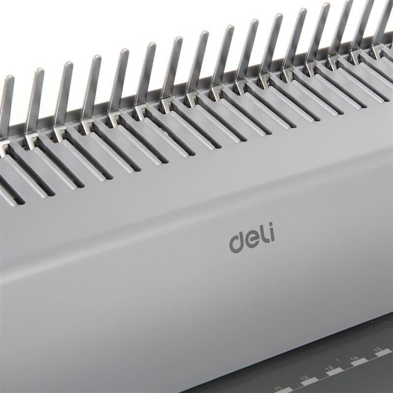 得力(deli)3872 省力型21孔文件装订机打孔机 胶圈/夹条装订