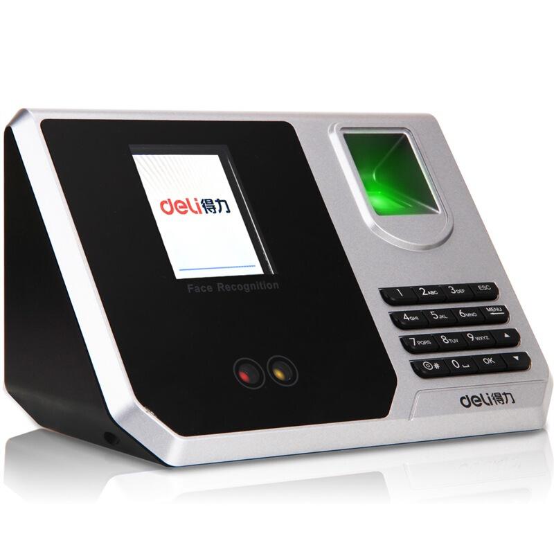 得力(deli) 3959 指纹加人脸识别考勤机 混合识别打卡机 真人语音 免软件安装