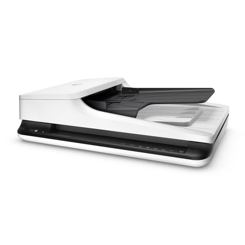 惠普HP 2500f1平板馈纸式扫描仪高速扫描 文件文档快速连续自动进纸 A4双面扫描机 ADF快速