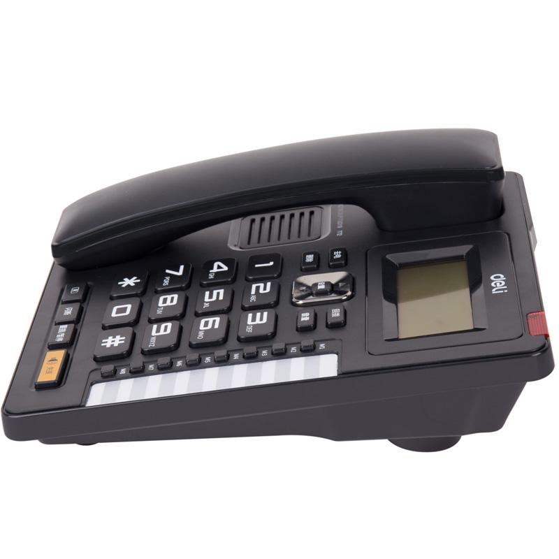 得力(deli)772电话机 固定电话 座机 办公居家防雷来显翻转屏幕 772黑色