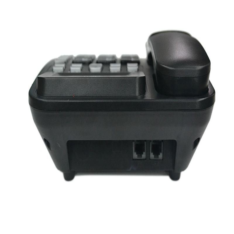 得力(deli) 788 黑色 来电显示座机 透明按键办公家用电话机 有绳固定电话