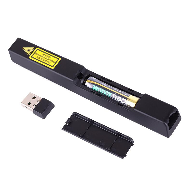 得力(deli)2802P 黑色 100m控制翻页笔/PPT翻页笔/激光翻页笔/无线演示器 红光