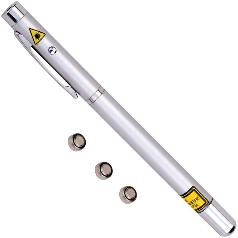 得力(deli)3934 银色办公红外线笔激光笔PPT电子笔远射会议教学教鞭笔