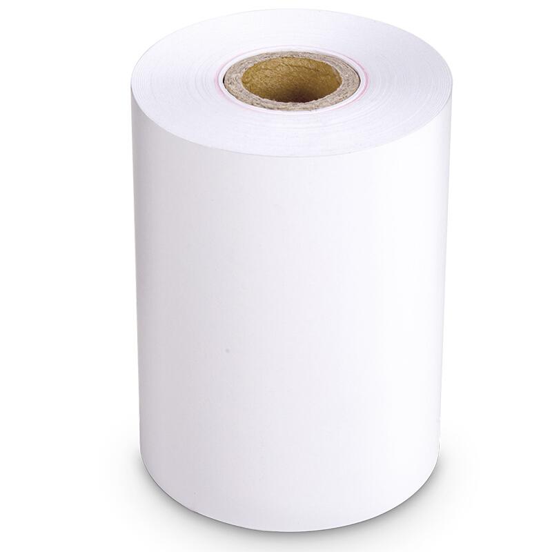 得力(deli)3202热敏收银纸/双胶收银纸 小票打印纸 57*50mm热敏收银纸(4卷/包)3202