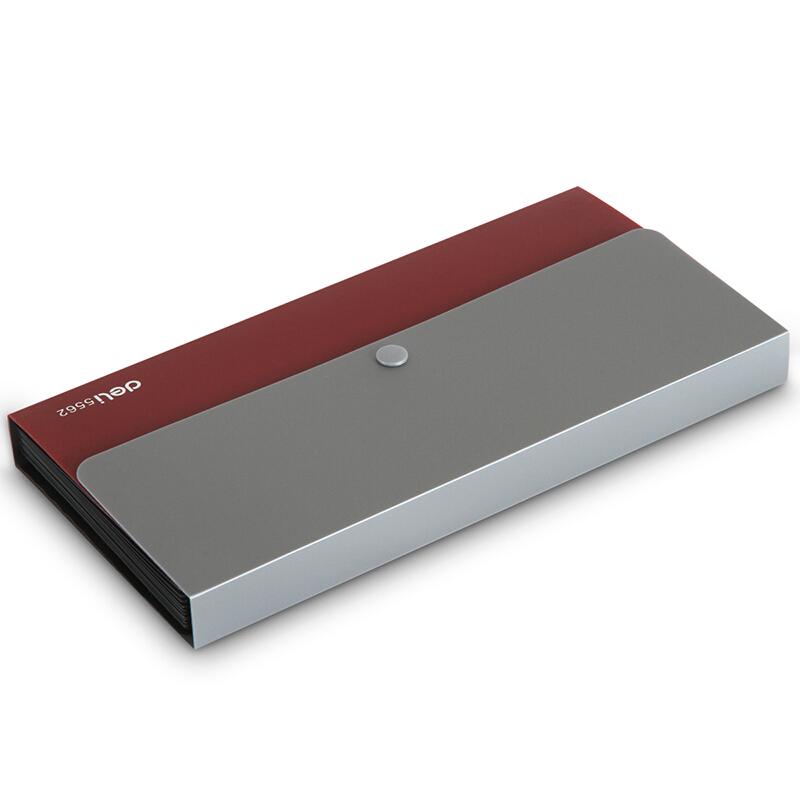 得力(deli) 票据风琴包夹 事物包文件包 多层绳扣资料夹文件整理 5562 红色 12格