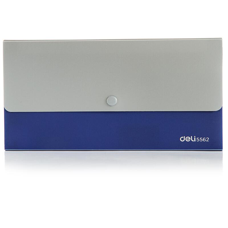 得力(deli) 票据风琴包夹 事物包文件包 多层绳扣资料夹文件整理 5562 蓝色 12格