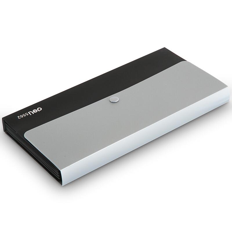 得力(deli) 票据风琴包夹 事物包文件包 多层绳扣资料夹文件整理 5562 黑色 12格
