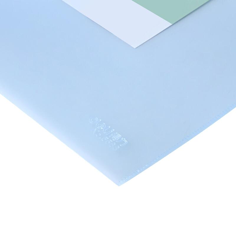 得力(deli)5588 简约经济A4 PP材质拉链袋 10只装 颜色随机