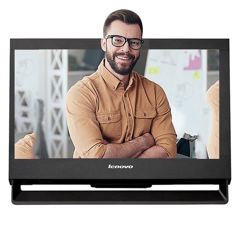 联想(Lenovo)启天A7400商用台式一体机电脑 九针串口win7系统 英特尔酷睿双核i3-6100/4G/1T/DVDRW/ 集显 19.5显示屏