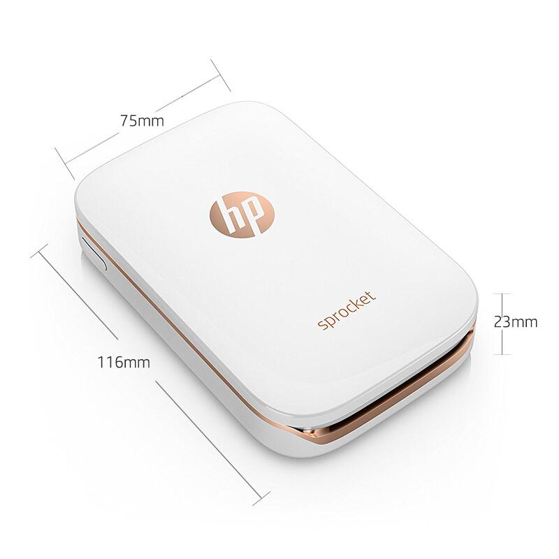 惠普(HP)小印Sprocket 100(白)圣诞礼物 口袋照片万博官网manbetxapp 自拍伴侣 蓝牙连接 移动便携随身打印