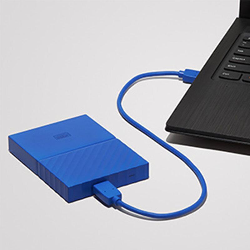 西部数据(WD)My Passport 2TB 2.5英寸 贵族蓝 移动硬盘 WDBYFT0020BBL