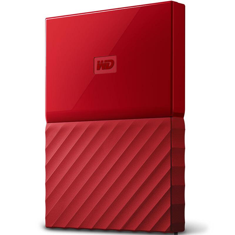 西部数据(WD)My Passport 2TB 2.5英寸 中国红 移动硬盘 WDBYNN0010BRD