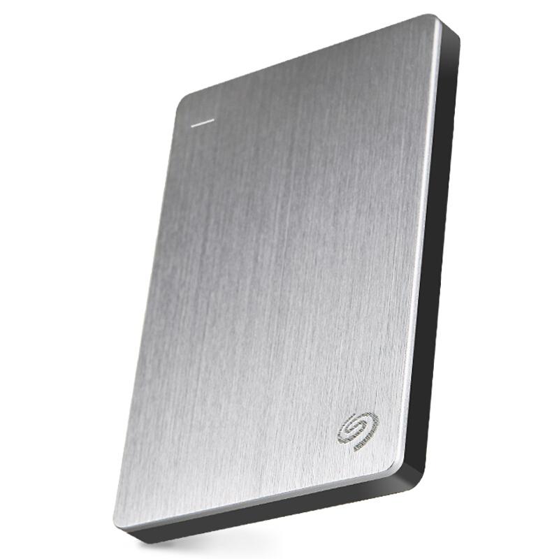希捷(Seagate)Backup Plus睿品2TB USB3.0 2.5英寸 移动硬盘 金属皓月银(STDR2000301)