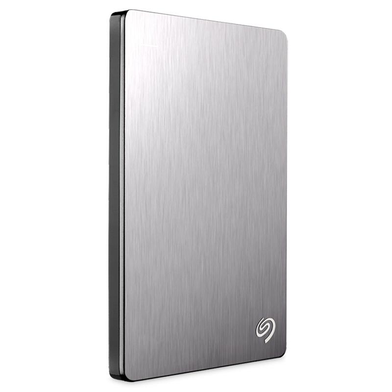 希捷(Seagate)Backup Plus睿品1TB USB3.0 2.5英寸 移动硬盘 金属皓月银 (STDR1000301)