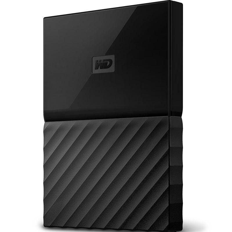 西部数据(WD)My Passport 2TB 2.5英寸 经典黑 移动硬盘 WDBYNN0010BBK