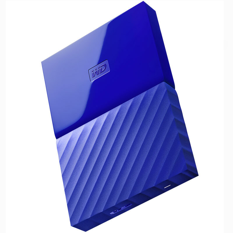 西部数据(WD)My Passport 1TB 2.5英寸 贵族蓝 移动硬盘 WDBYFT0020BBL