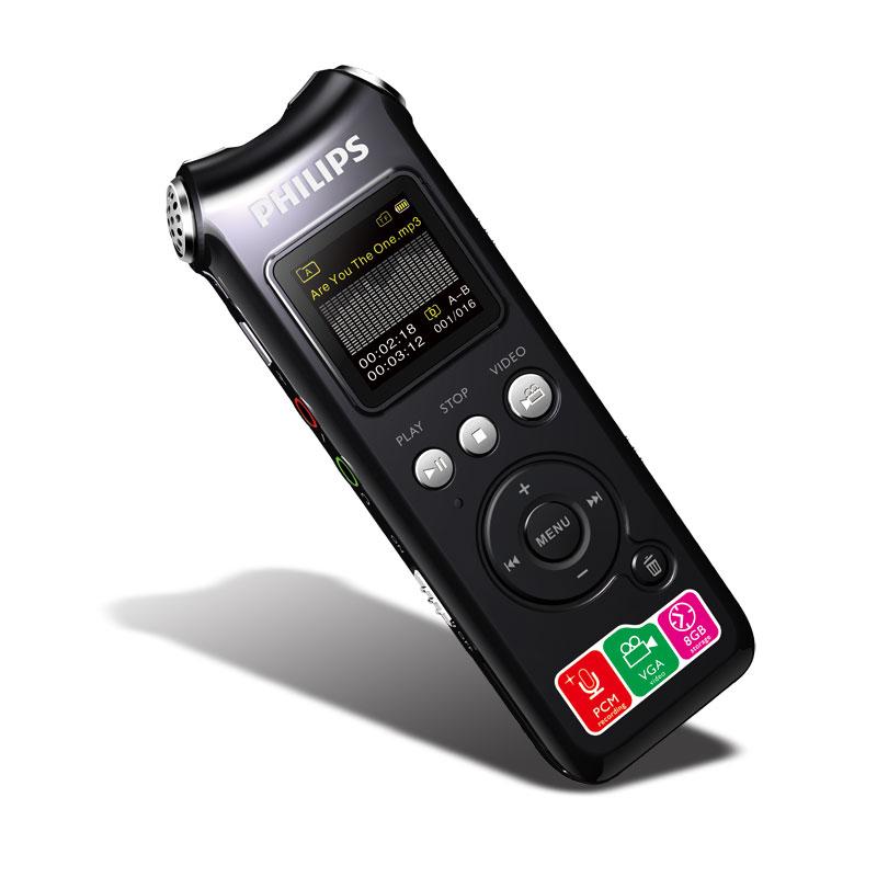 飞利浦(PHILIPS) VTR8000 8GB 集成摄像头 录音摄像笔