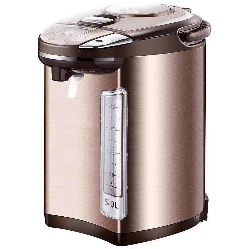 美的(Midea)电热水瓶 304不锈钢电水壶 5L容量 多段温控电热水壶 双层彩钢烧水壶PF704C-50G