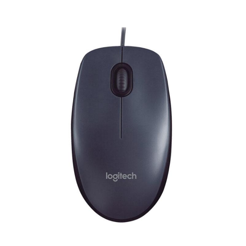 罗技(Logitech)M90 有线鼠标 即插即用 舒适可靠 黑色