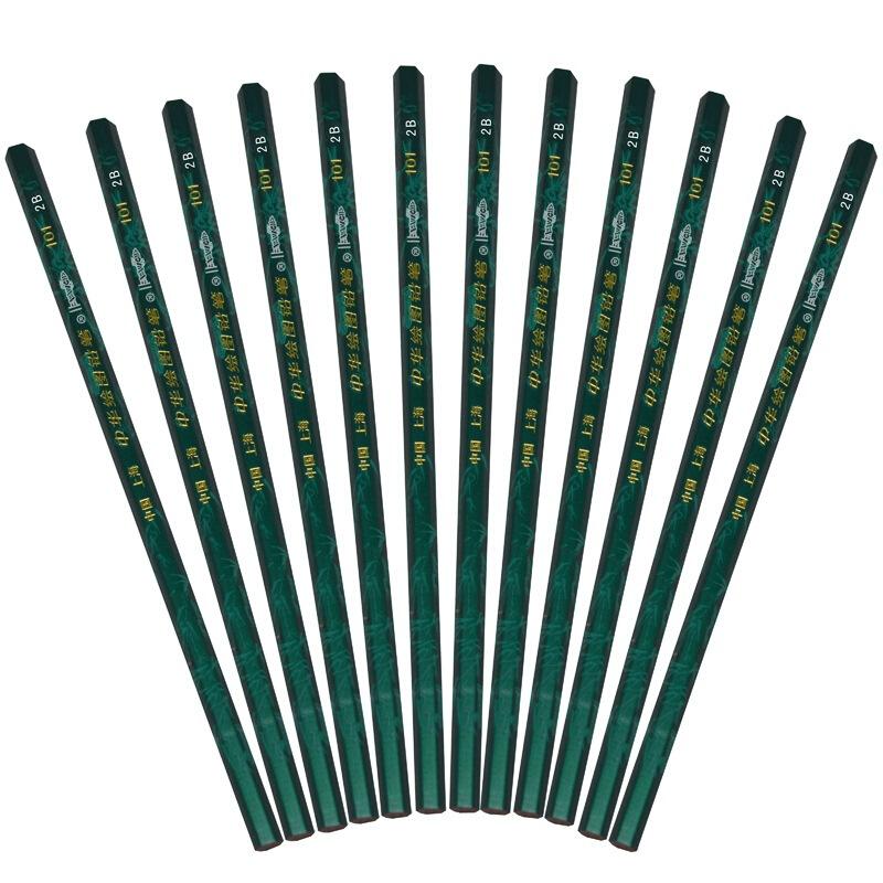 中华 101 2B 绘图铅笔/考试铅笔 12支/盒