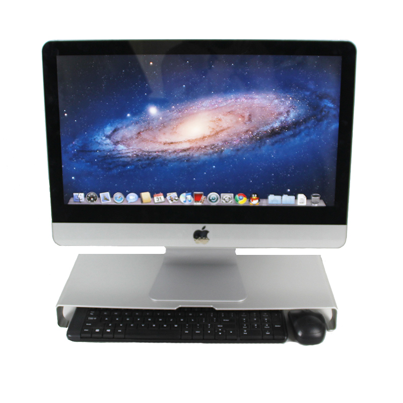 倍方铝合金电脑显示器增高架 桌面整理键盘收纳架 大号