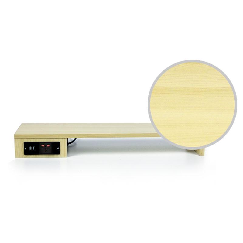 倍方电脑显示器增高架USB口充电插座 电脑支架 显示器支架 桌面整理键盘收纳