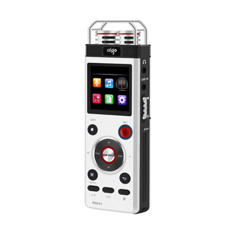 爱国者(aigo)R6633录音笔 高清远距降噪 学习会议型 8G 银色