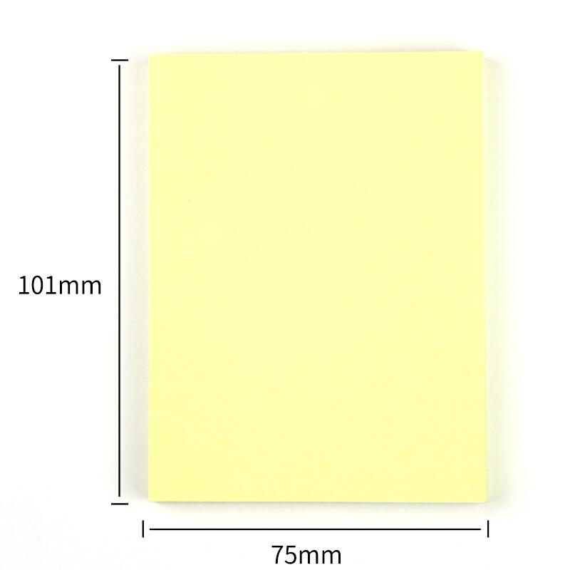 得力(deli)9077 百事贴便利贴N次贴 告示贴大号76*101mm 黄色