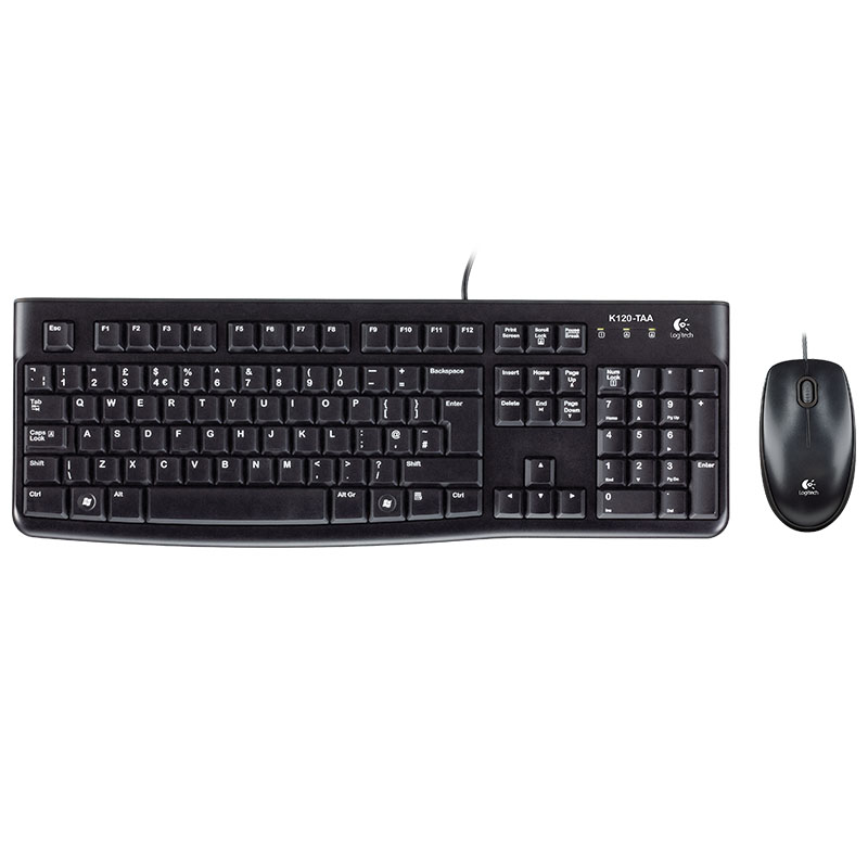 罗技MK120有线键鼠套装
