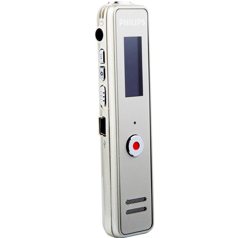 飞利浦录音笔VTR5100 8G 香槟色 远距离 降噪录音笔 MP3播放器 学习会议取证高品质录音笔充电