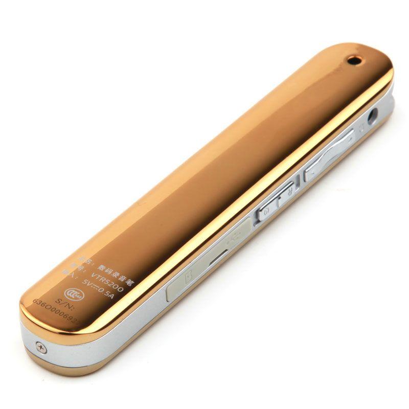 飞利浦录音笔 VTR5200 8GB 金色 远距离 降噪 学习会议采访 双麦克风数码录音笔棒 无损录音笔 MP3