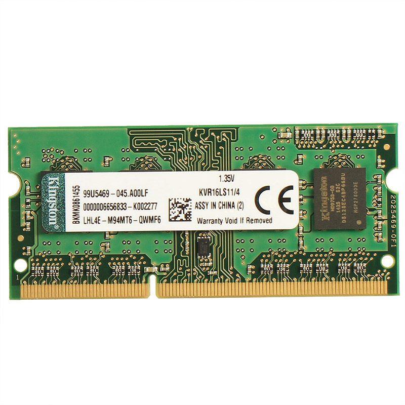 金士顿(Kingston) KVR DDR3 1600 4GB 笔记本电脑内存条