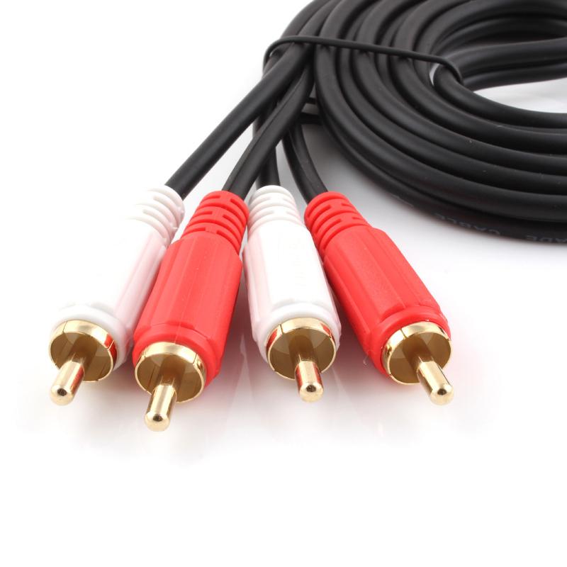 秋叶原(CHOSEAL)Q-401 5m 双莲花音频线 音响音频线 RCA 四头线 红白头 二对二 音频线