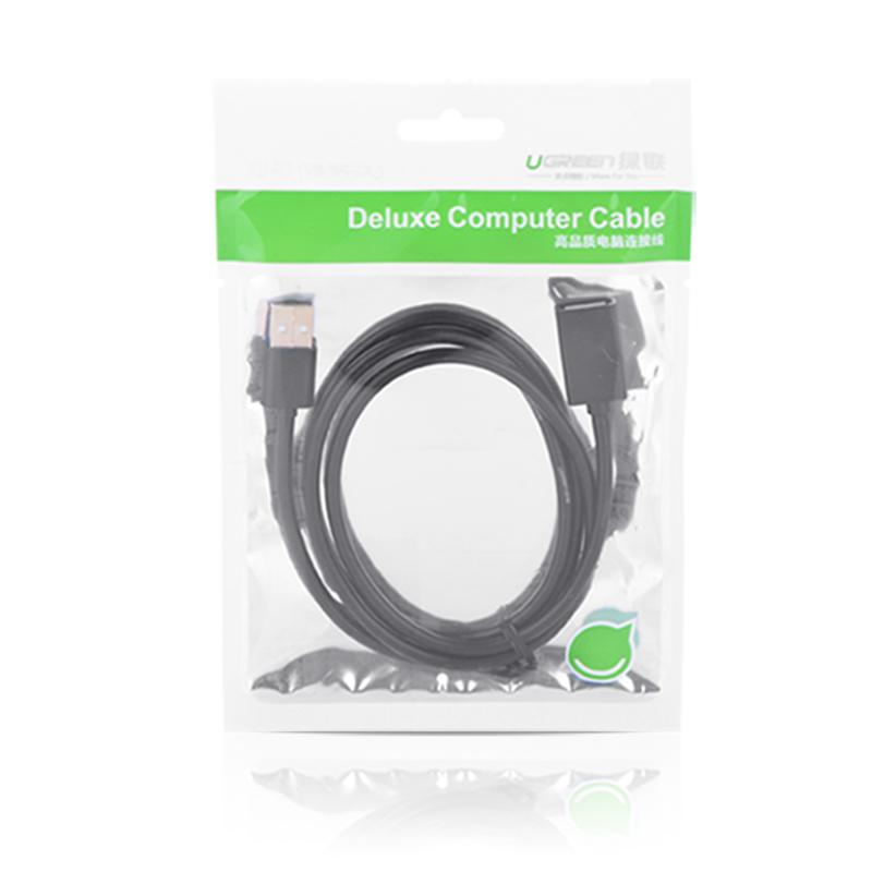 绿联(UGREEN)USB2.0延长线公对母 USB2.0数据连接线数据延长线1.5米